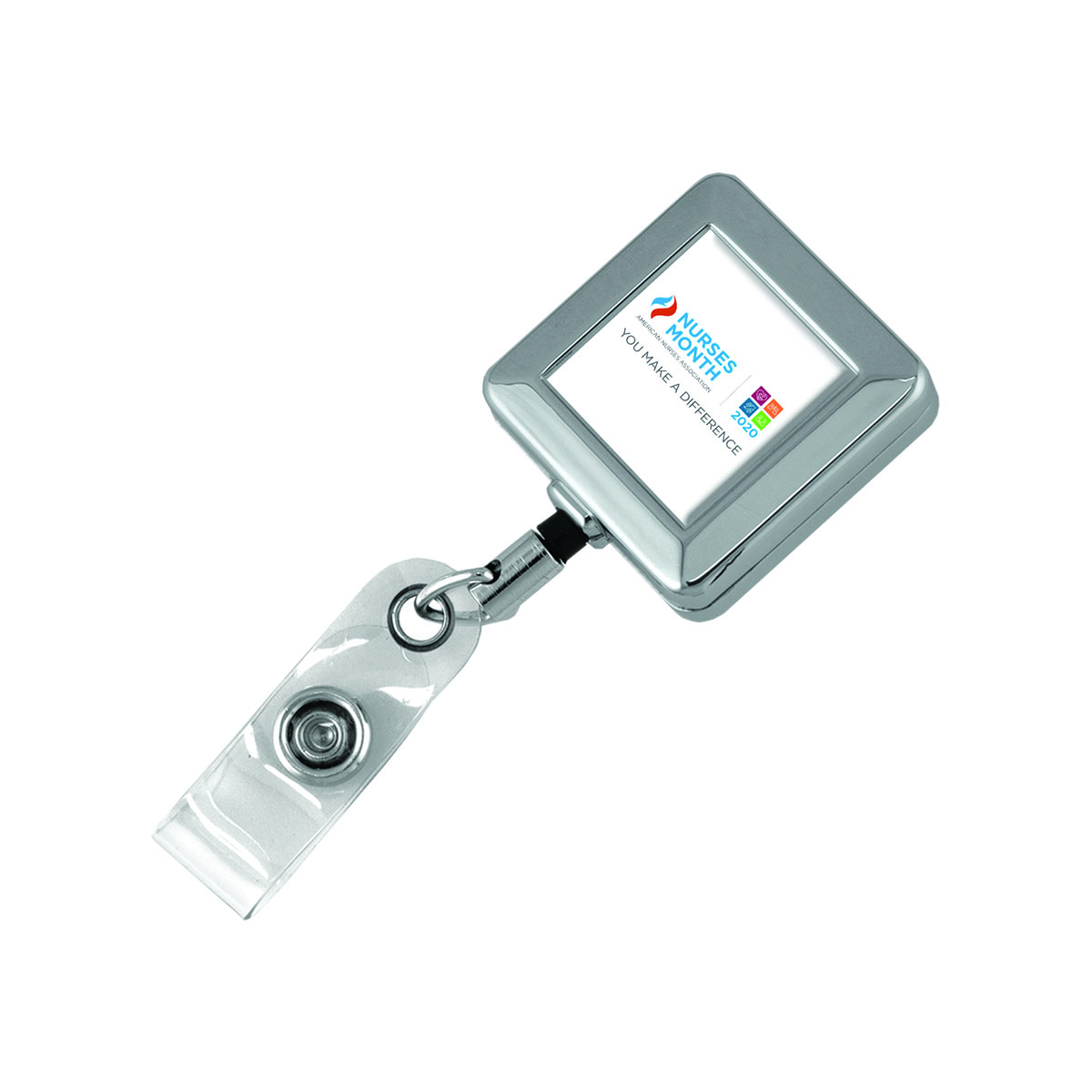 Nurses Month Chrome Retractable ID Holder