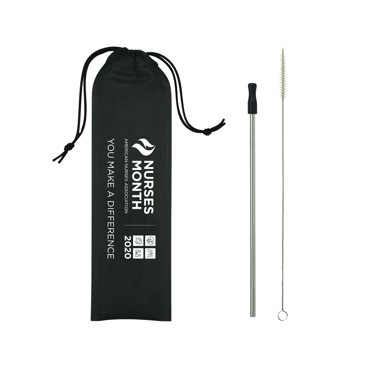 Nurses Month Stainless Steel Straw Kit