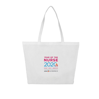Year of the Nurse Large Shopping Tote - Full Color Logo