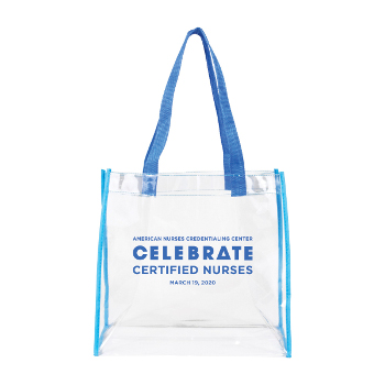 Certified Nurses Day Clear Vinyl Stadium Tote