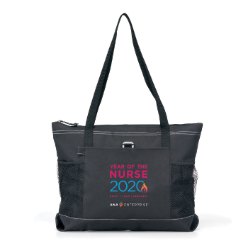Year of the Nurse Zippered Tote - Full Color Logo