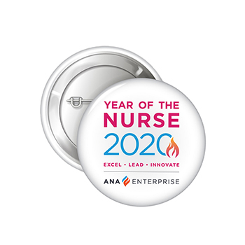 "Year of the Nurse 2 1/4"" Celluloid Button"