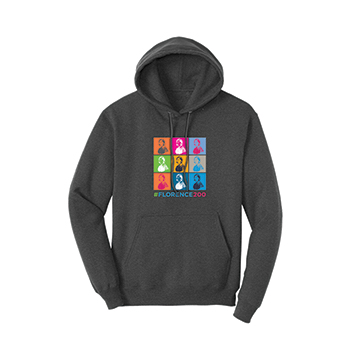 Unisex Hoodie with Florence Graphic Print