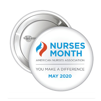 "Nurses Month 2 1/4"" Celluloid Button (Pack of 15)"
