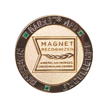 Magnet MPD Lapel Pin with Real Emeralds