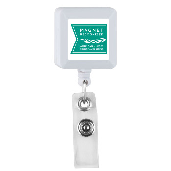 White Retractable ID Holder