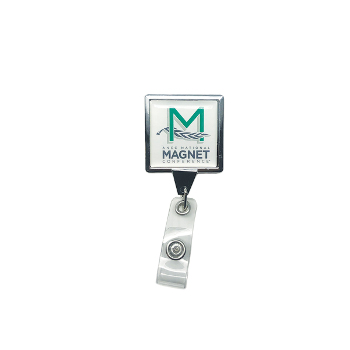 Magnet Conference Square Badge Reel