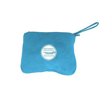 Pathway Designated Foldable Pillow Blanket